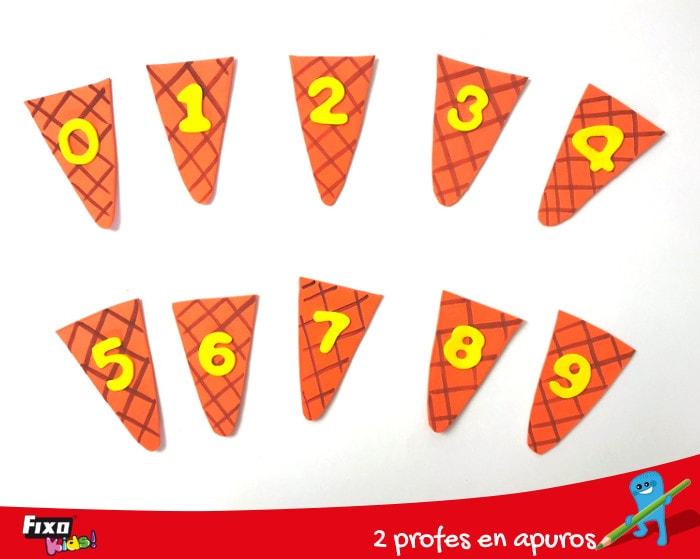 números adhesivos de goma EVA para actividades de enseñanza
