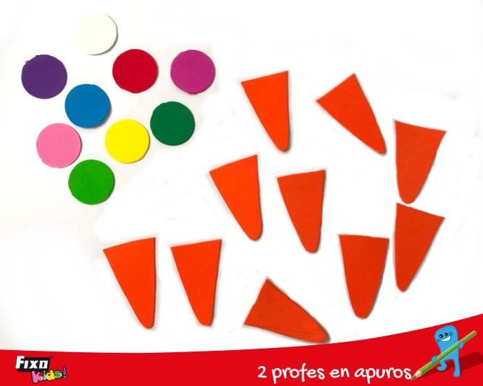 piezas para el juego del helado matemático