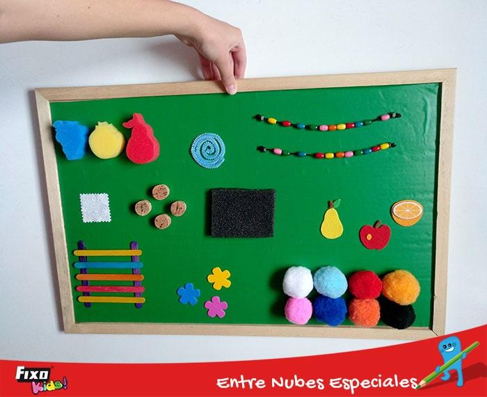DIY panel de estimulación sensorial para niños pequeños de 0 a 3 años