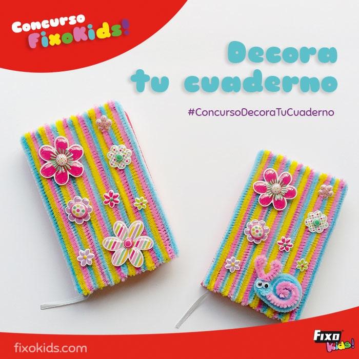 concurso para niños decora tu cuaderno
