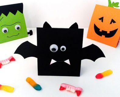 cajas de cartulina para halloween