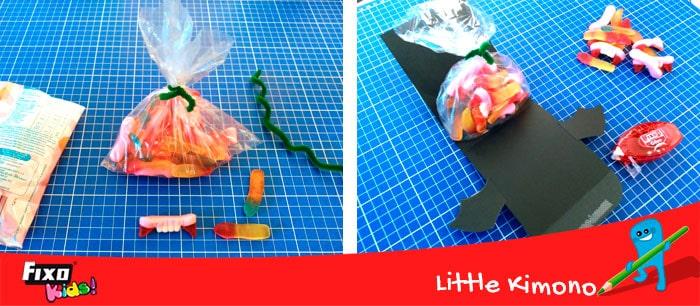 cómo guardar chuches en cartulinas fixo paper