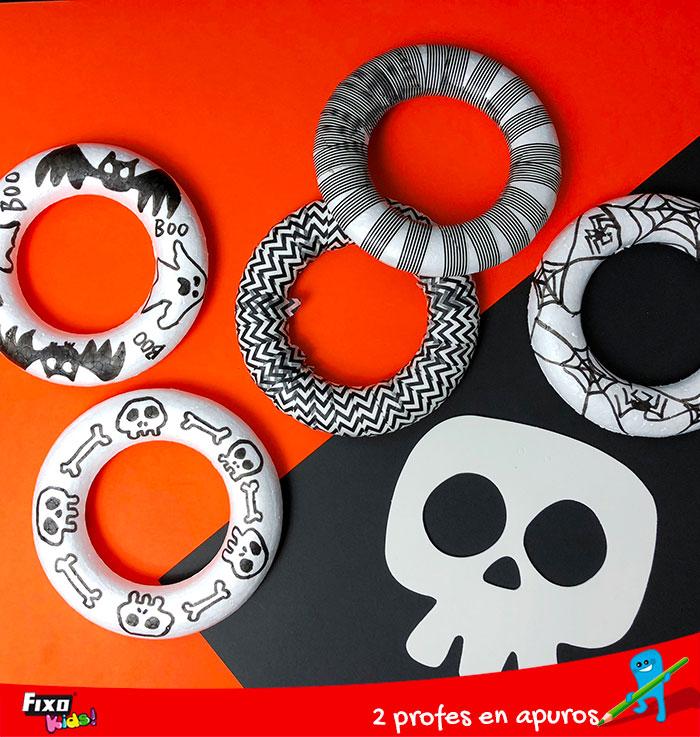 decorar los aros con rotuladores fixo kids