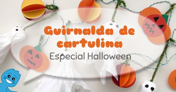 guirnalda de cartulina fixo paper para halloween