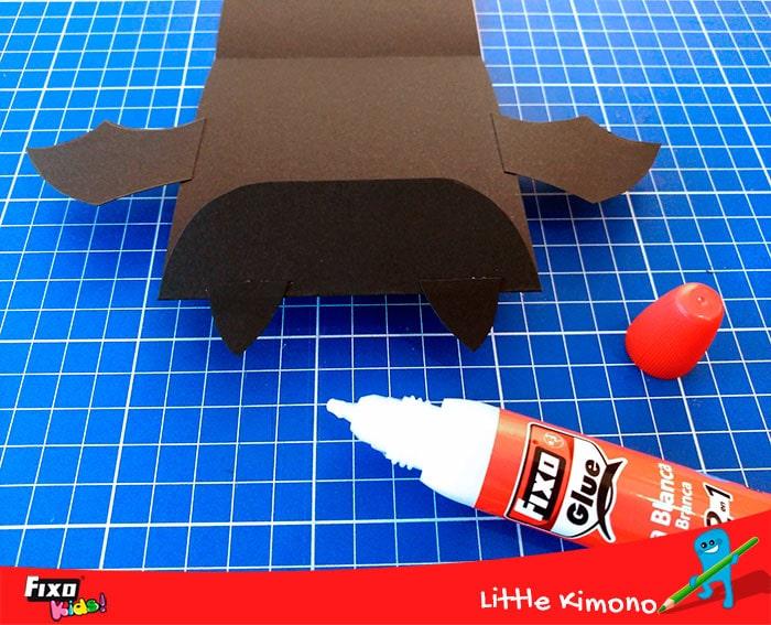 cómo pegar piezas murcielago con cola blanca fixo glue