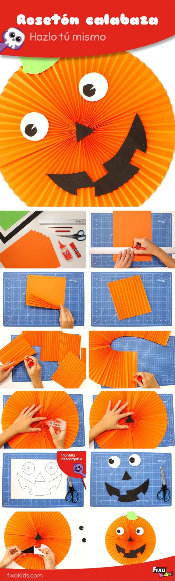 tutorial paso a paso calabaza de papel de halloween
