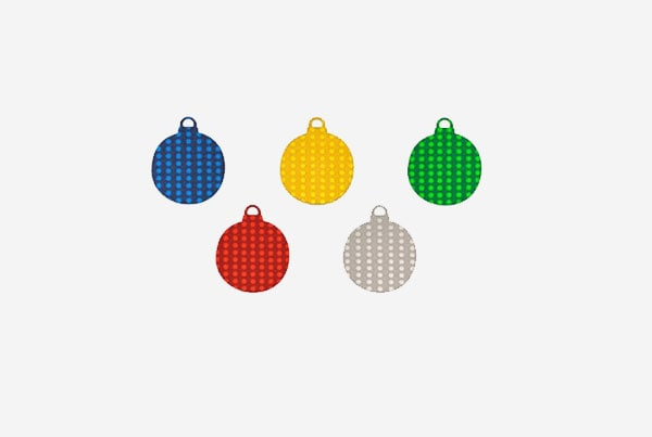 00042699 goma eva metal troquelada en forma de bolas navideñas