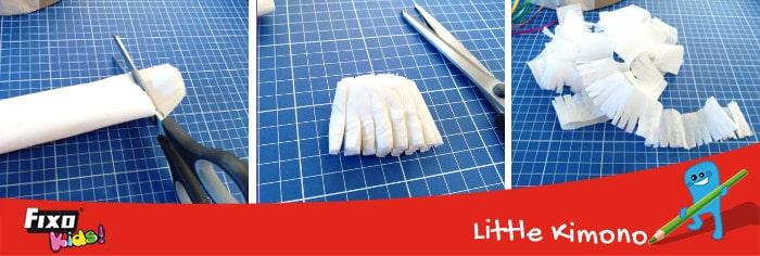 cómo hacer flecos con papel crespón