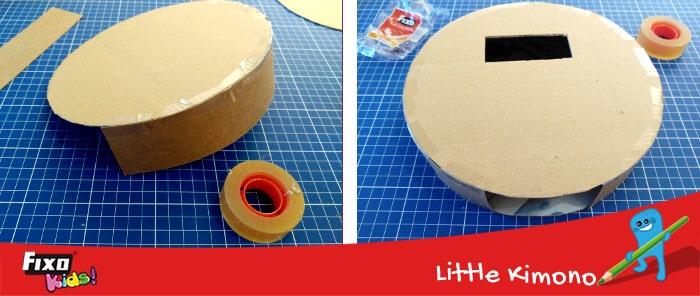 cómo hacer piñatas con cartón y fiso