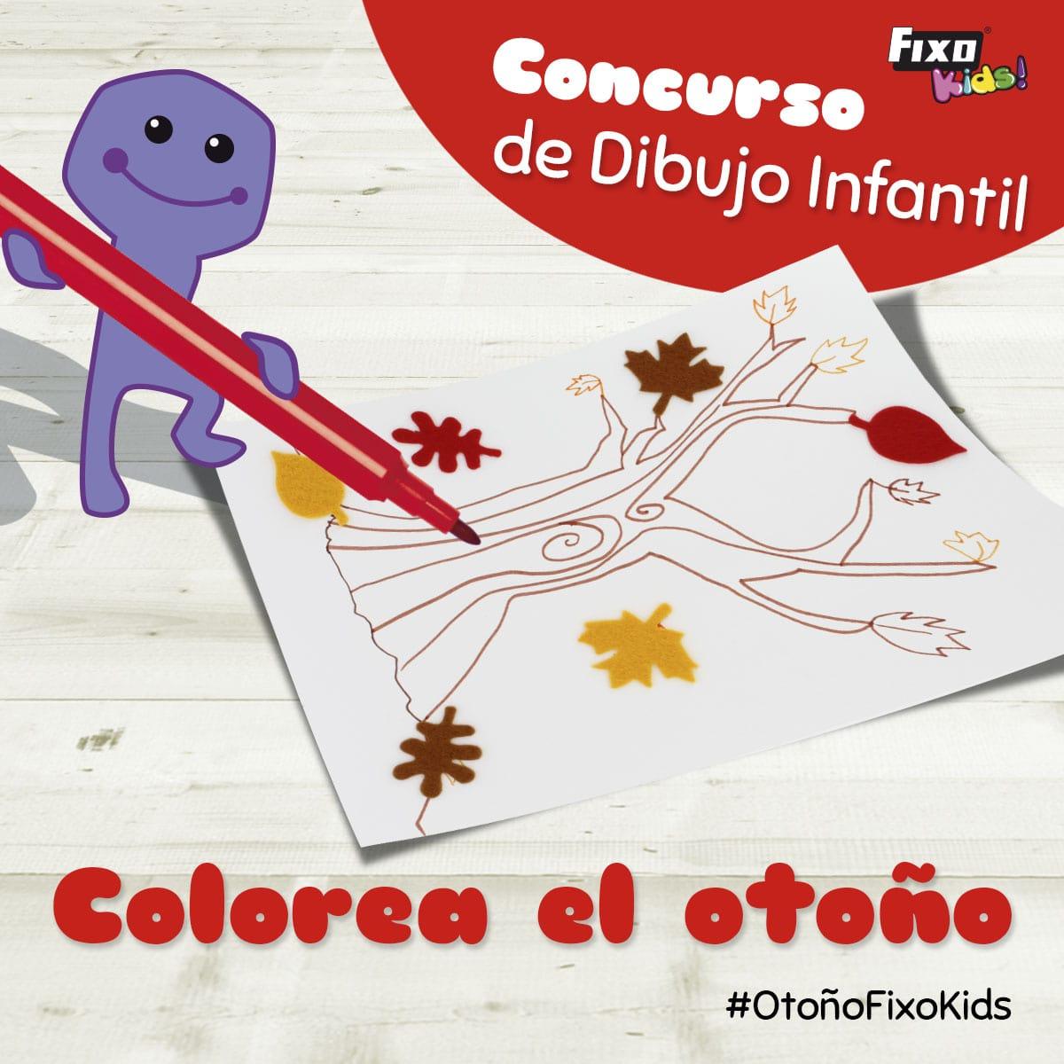 concurso infnatil de dibujo: colorea el otoño