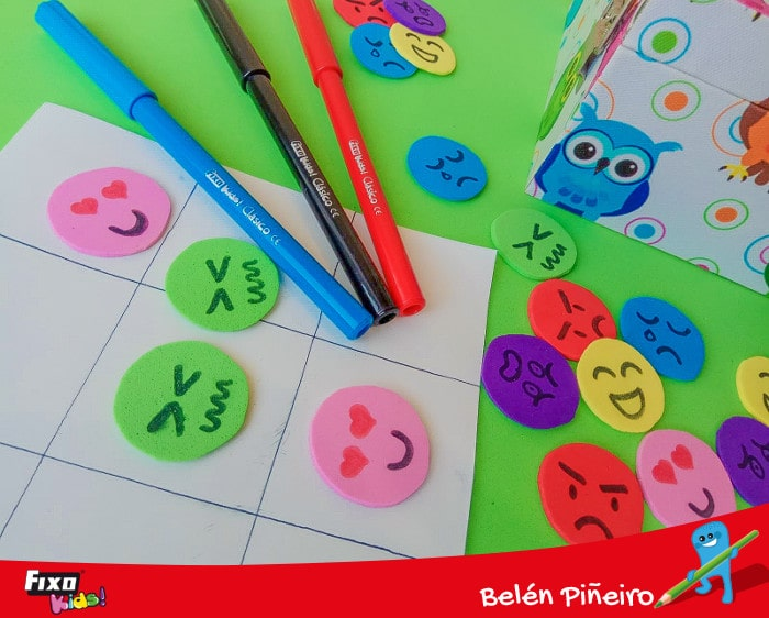 crear fichas goma eva con emociones básicas