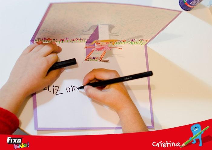 decorar tarjeta pop up dia maestros