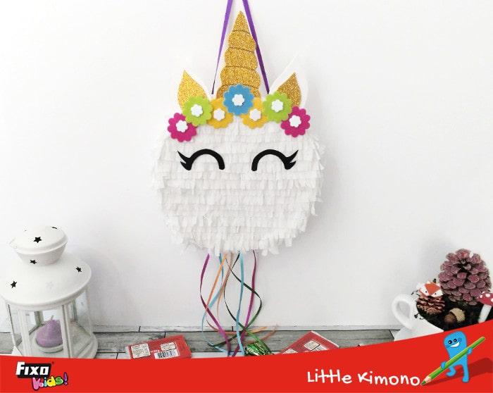 Piñata unicornio hecha a mano