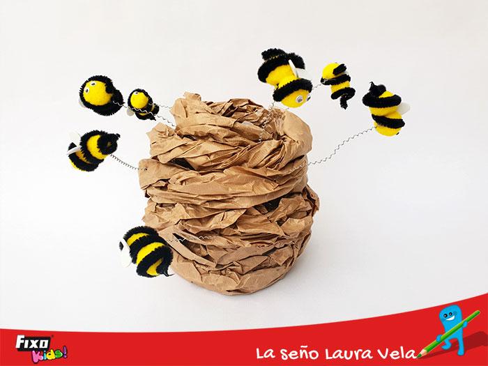 manualidad colmena de abejas: el trabajo en equipo en los niños