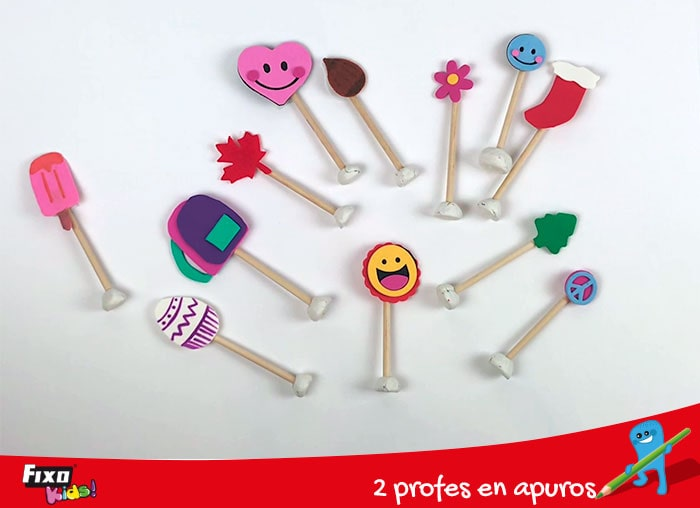 símbolos figuras adhesivas fixo kids