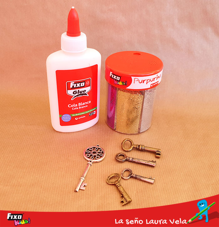 cola blanca fixo glue y purpurina fixo kids