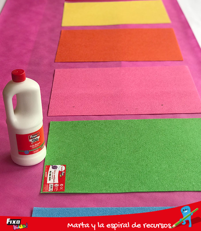 cola blanca fixo glue para alfombra sensoriales