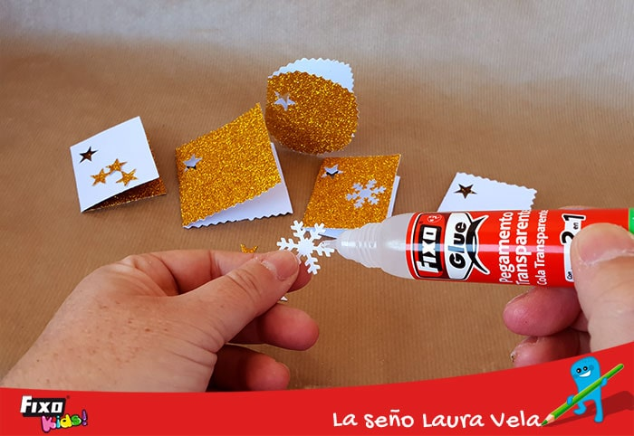 cómo decorar con pegamento transparente fixo glue