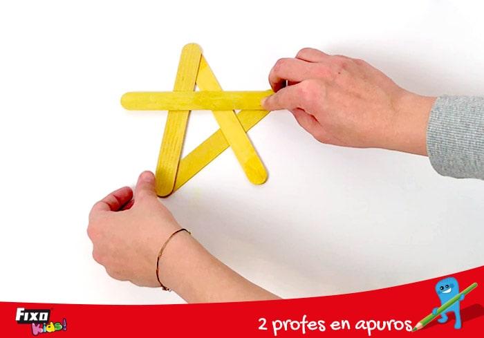 cómo hacer estrella palos de madera fixo