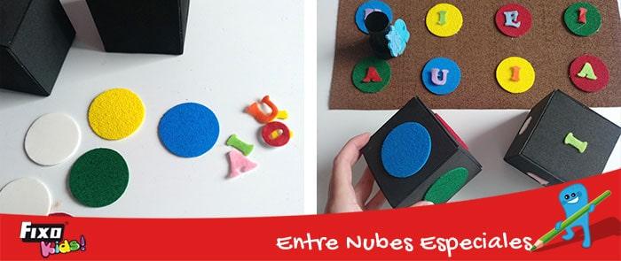 dado para aprender colores y vocales jugando