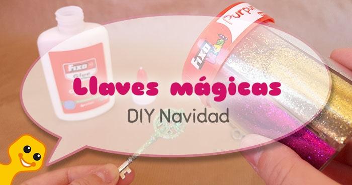 diy de navidad llaves mágicas para niños