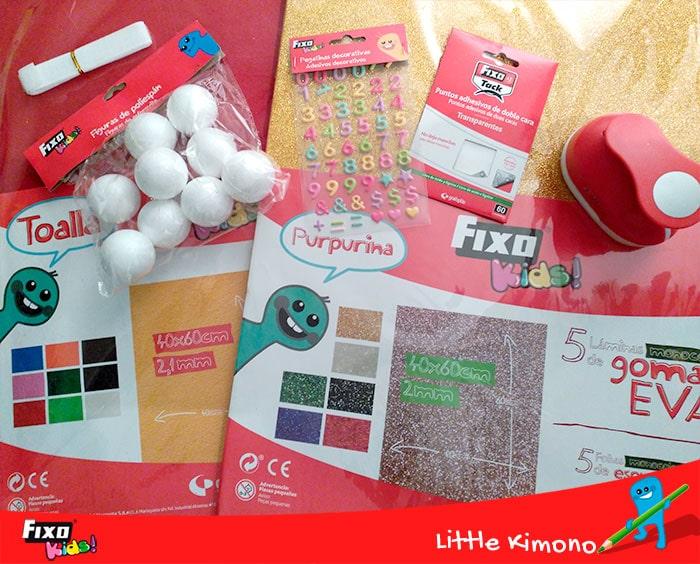 material de manuaidades Fixo Kids navideñas