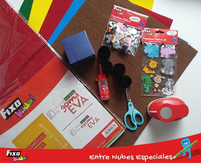 material de manualidades para hacer juegos caseros para niños