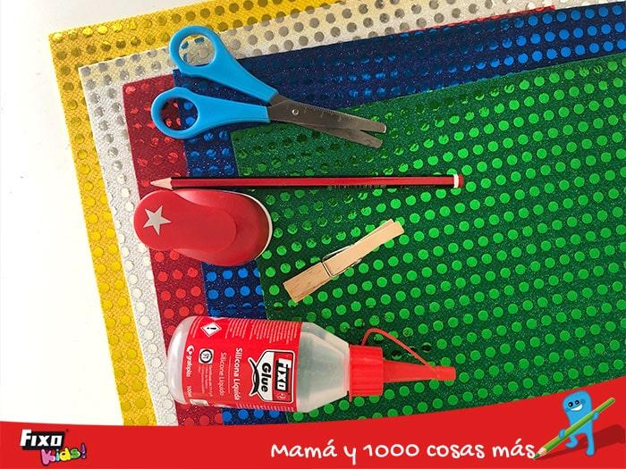 material de manualidades servilleteros navideños