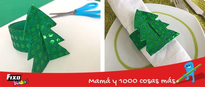 servilletero arbol de navidad para niños