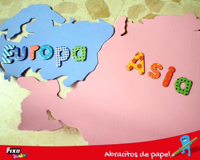 actividad escolar mapa del mundo