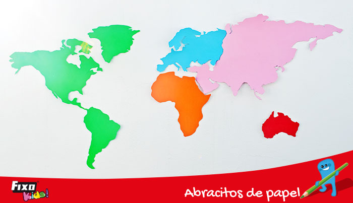 activades para educación primaria mapa del mundo