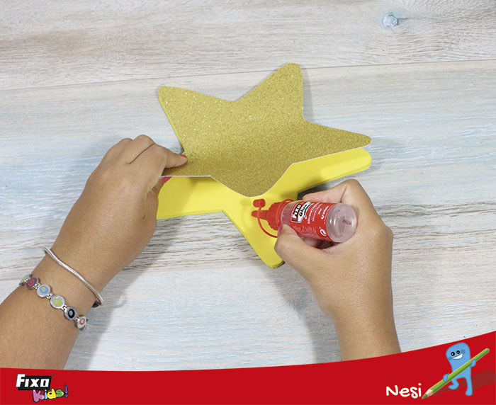 cómo hacer una estrella lámpara con foam