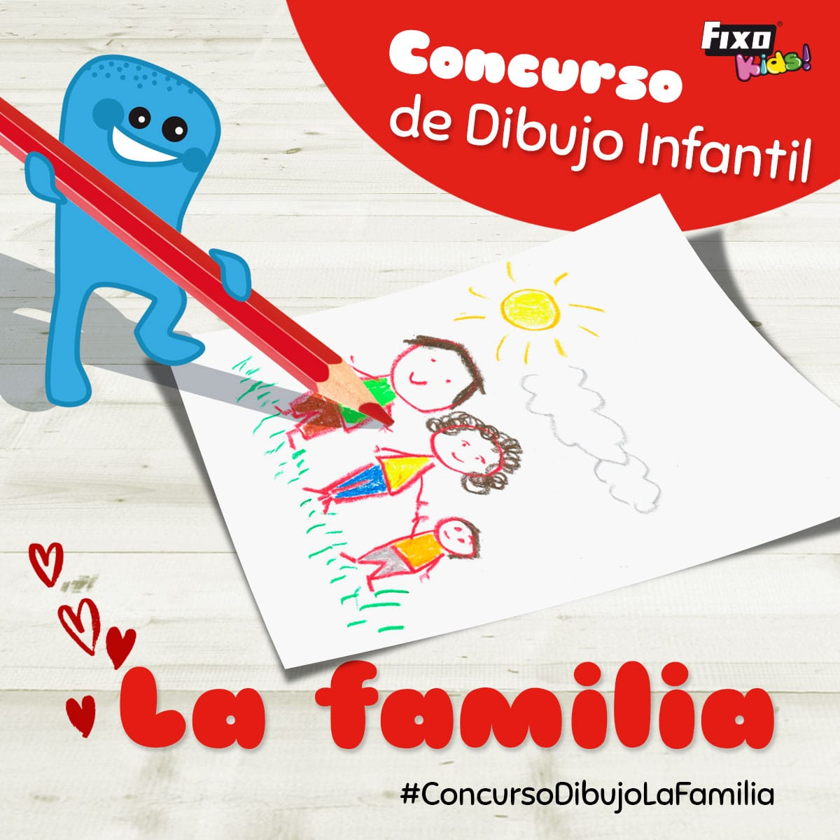 concurso de dibujo infantil: la famlia