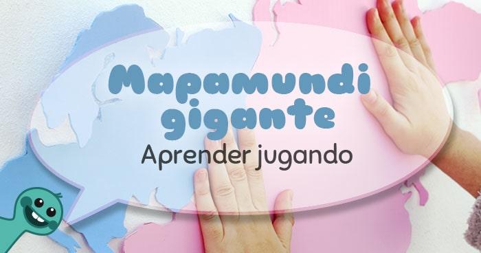 cómo hacer un mapamundi gigante para niños