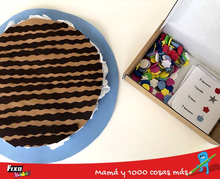 juego pastel de chocolate para aprender jugando con niños