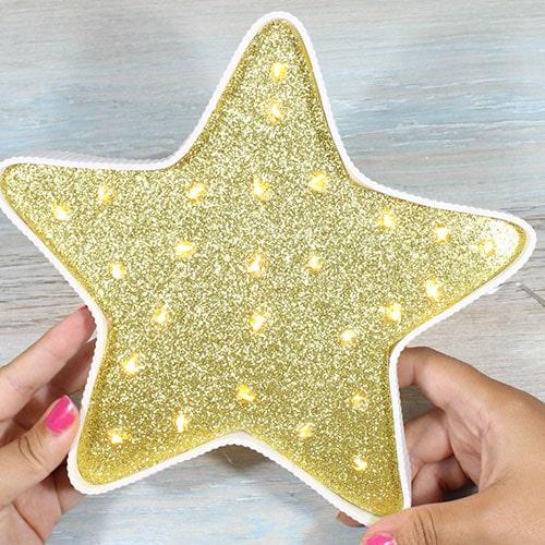 lámpara estrella diy