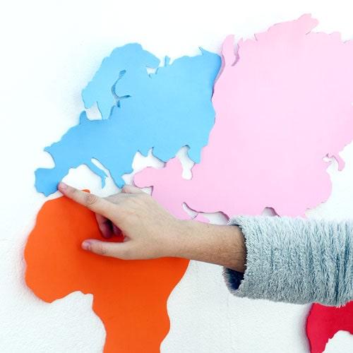 mapamundi de goma eva
