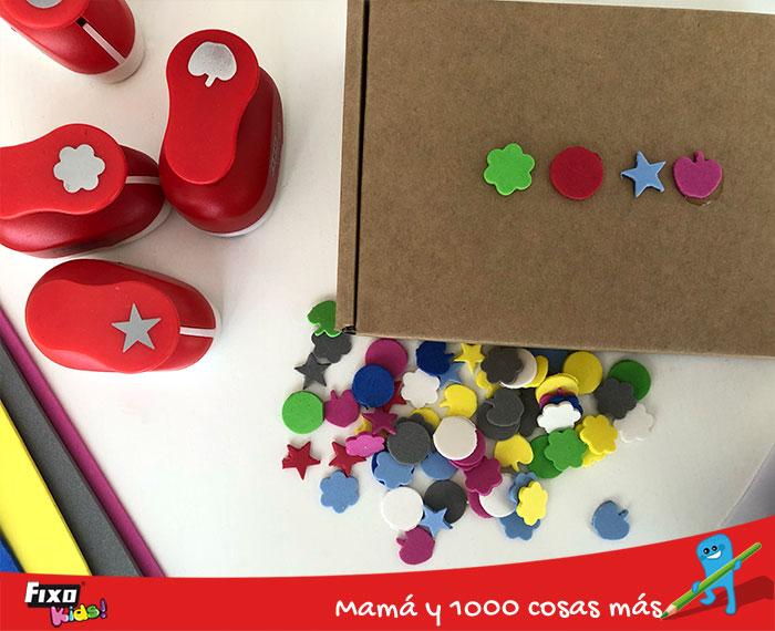 material para hacer formas con troqueladoras de formas fixo kids