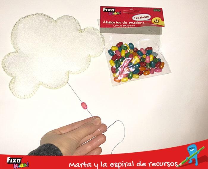 abalorios fixokids para decorar móviles infantiles diy