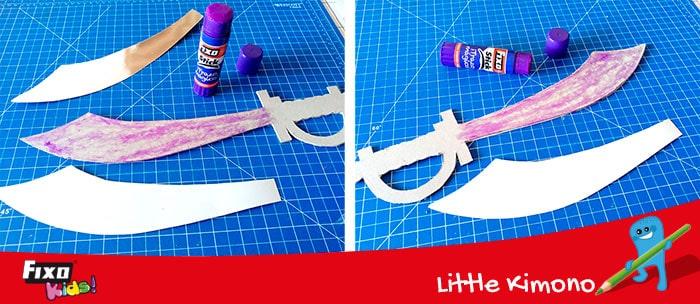 cómo aprender a pegar fácilmente con pegamento trazo mágico de la marca fixo stick