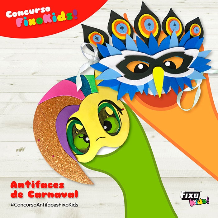 concurso de antifaces de carnaval fixo kids