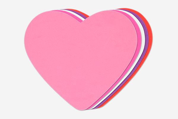 pack 25 figuras corazones goma EVA. Referencia 00030700