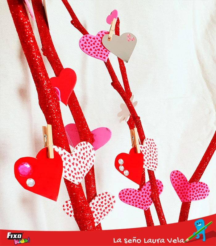 tarjetas actividad primaria día de los enamorados