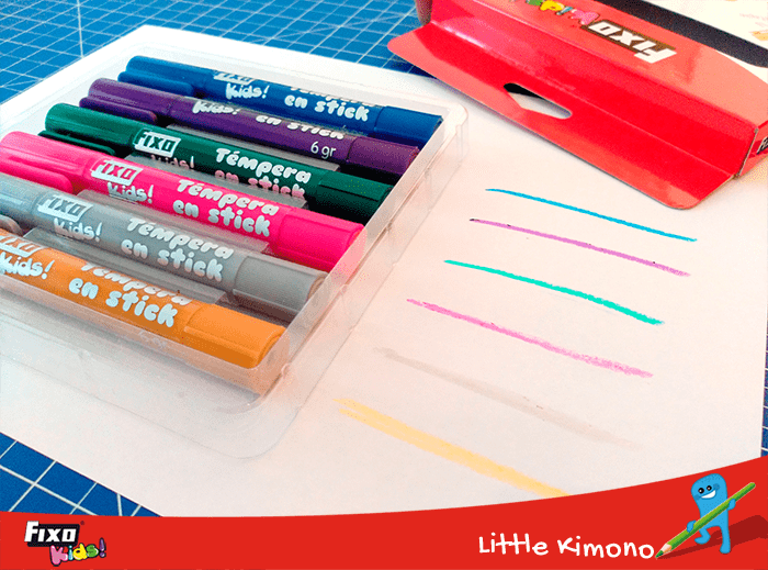 témperas sólidas en stick colores metal fixo kids