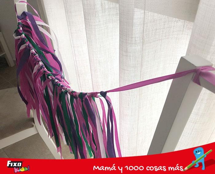 truco para hacer una falda hawaiana con tela no tejido