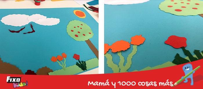 collage para niños con cartulinas