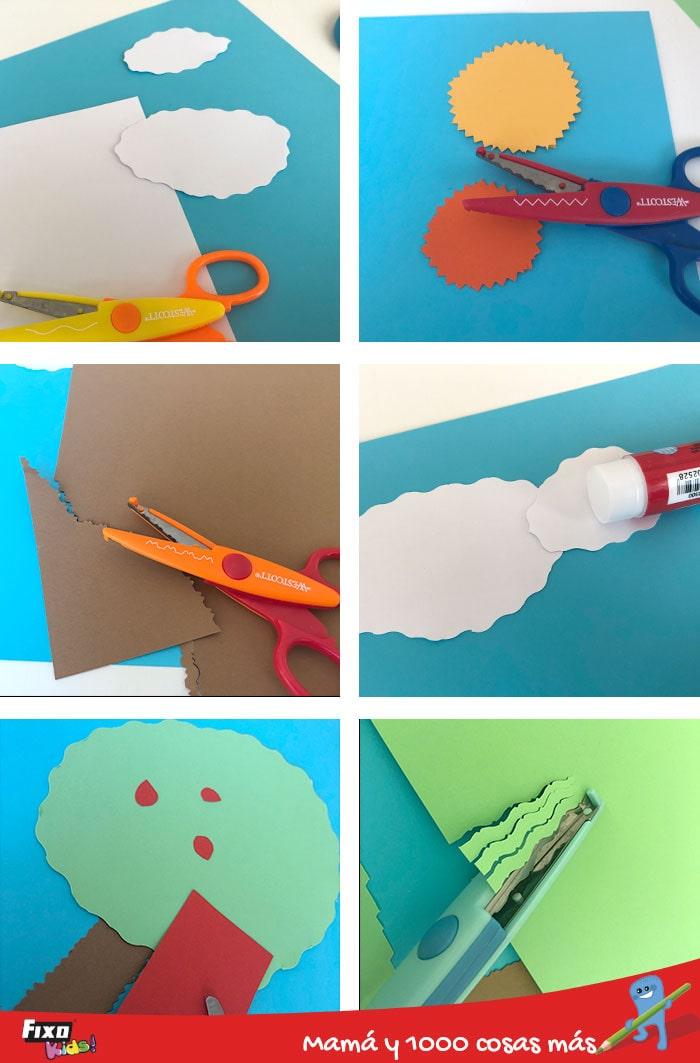 como hacer facilmente un collage infantil