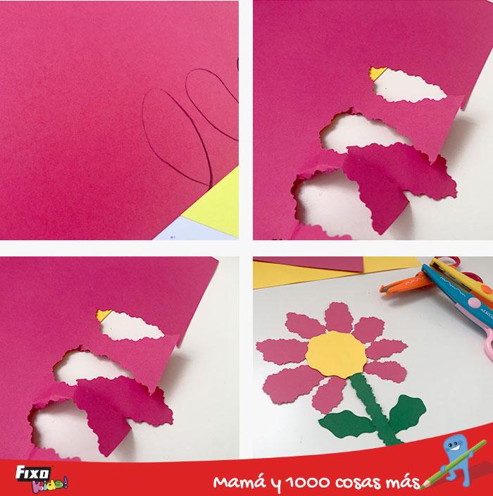 como hacer una flor de papel con tijeras creativas