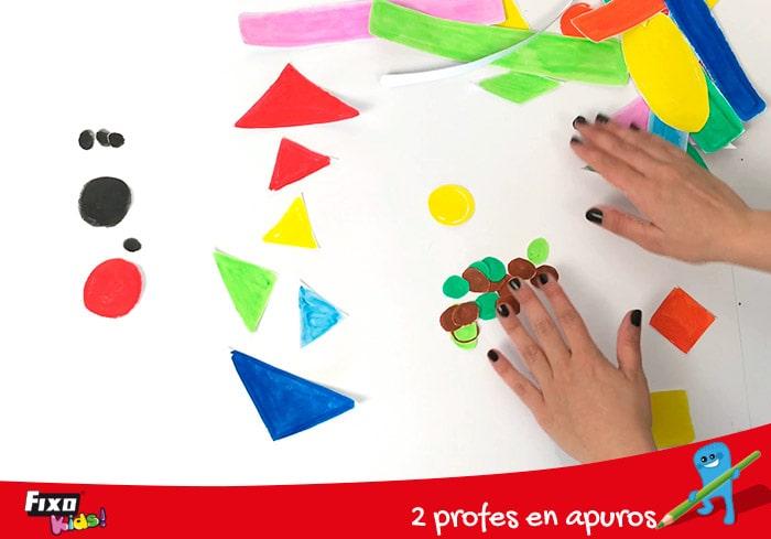 cómo jugar con figuras geométricas de colores