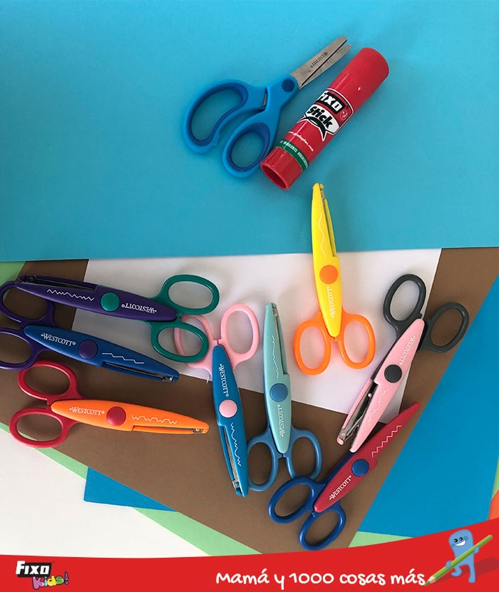 tijeras creativas manualidades fixo kids